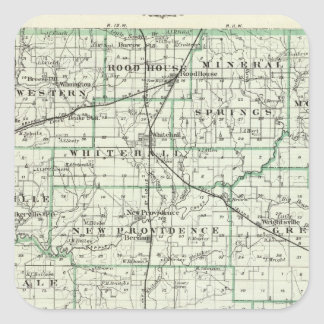 Map of Green County and Carrollton Square Sticker