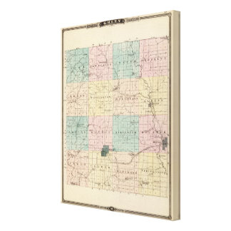 Map of Green County, State of Wisconsin Canvas Print
