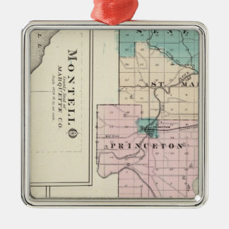 Map of Green Lake County, State of Wisconsin Christmas Ornament