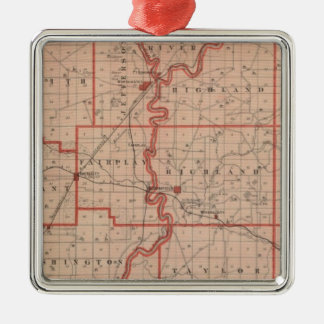 Map of Greene County Christmas Ornament