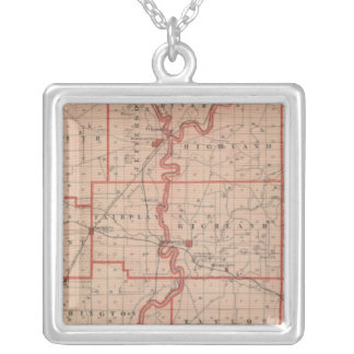 Map of Greene County Silver Plated Necklace
