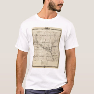 Map of Greene County, State of Iowa T-Shirt