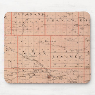 Map of Grundy County, State of Iowa Mouse Mat