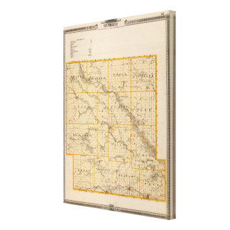 Map of Guthrie County, State of Iowa Canvas Print