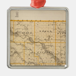 Map of Guthrie County, State of Iowa Christmas Ornament