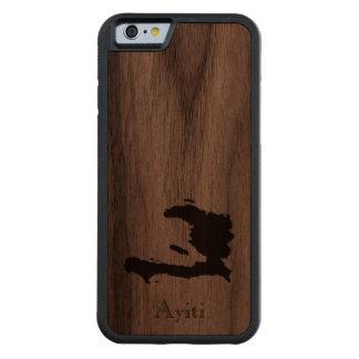 Map of Haiti: Classic Design Walnut iPhone 6 Bumper Case