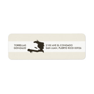 Map of Haiti: Personalized Design Return Address Label