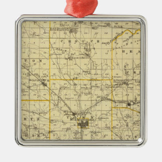Map of Hamilton County Christmas Ornament
