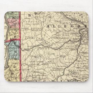 Map of Hancock, Brooke, Ohio, Marshall counties Mouse Mat