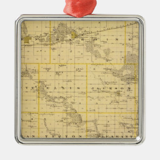 Map of Hardin County, State of Iowa Christmas Ornament
