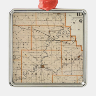 Map of Harrison County Christmas Ornament