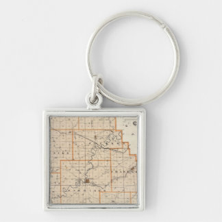 Map of Harrison County Key Ring