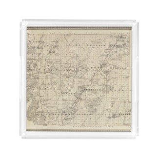 Map of Harrison County, State of Iowa Acrylic Tray