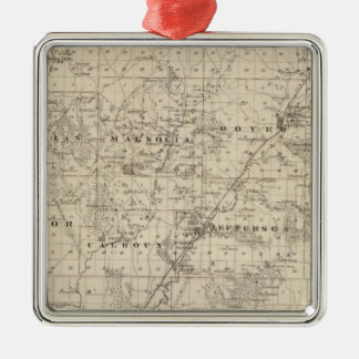 Map of Harrison County, State of Iowa Christmas Ornament
