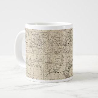 Map of Harrison County, State of Iowa Large Coffee Mug