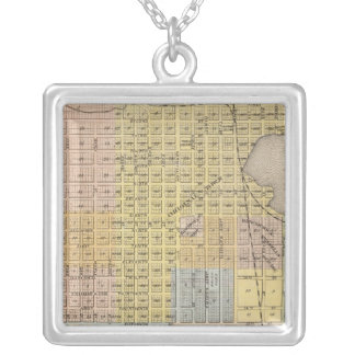 Map of Hastings, Dakota County, Minnesota Silver Plated Necklace
