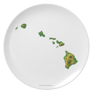 Map of Hawaii 2 Plate