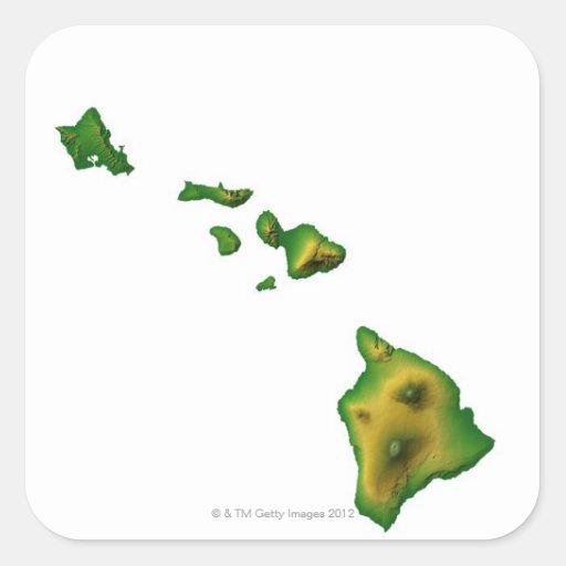 Map of Hawaii 2 Sticker