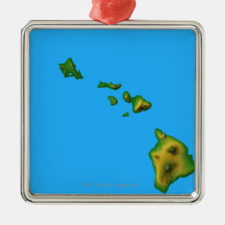 Map of Hawaii Christmas Ornament