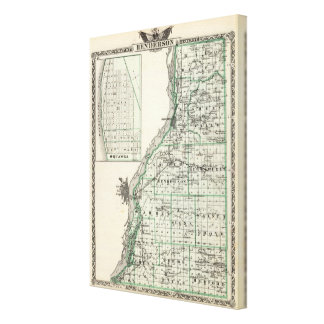 Map of Henderson County and Oquawka Canvas Print