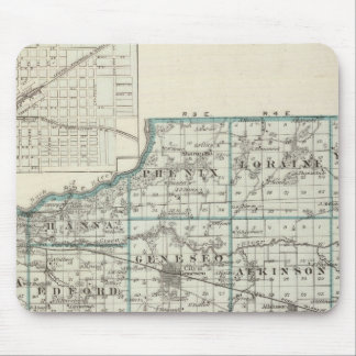 Map of Henry County and Galva Mouse Pad
