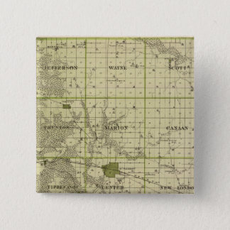 Map of Henry County, State of Iowa 15 Cm Square Badge