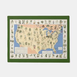Map of Herbal Remedies door mat