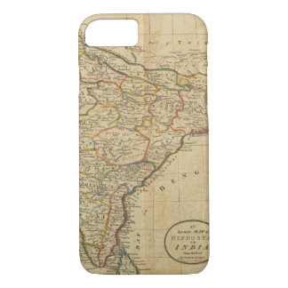 Map of Hindostan or India iPhone 7 Case