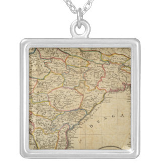 Map of Hindostan or India Silver Plated Necklace