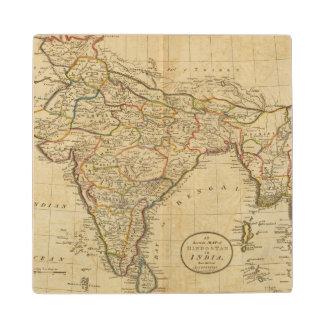 Map of Hindostan or India Wood Coaster