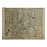 Map of Holland 1583 - Leo Belgicus Poster
