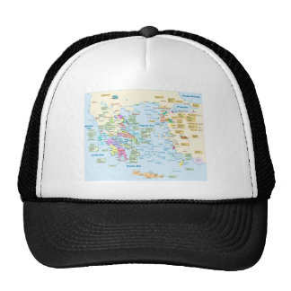 Map of Homeric Era Greece with English labels Cap