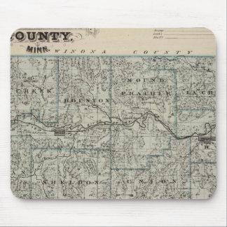Map of Houston County, Minnesota Mousepad
