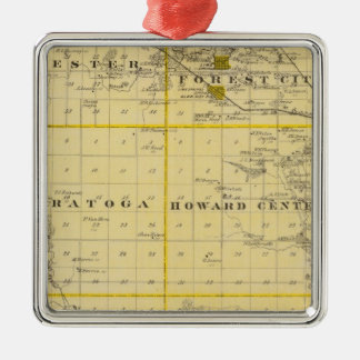 Map of Howard County, State of Iowa Christmas Ornament