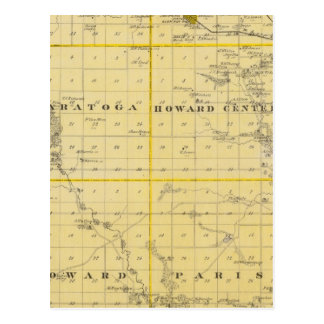Map of Howard County, State of Iowa Postcard