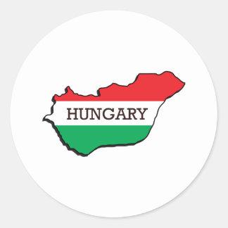 Map Of Hungary Classic Round Sticker