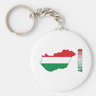 Map Of Hungary Key Ring