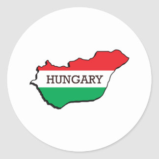 Map Of Hungary Round Sticker