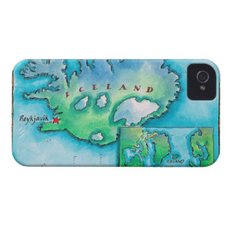 Map of Iceland Case-Mate iPhone 4 Case
