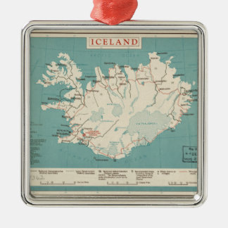 Map of Iceland (circa 1959) Christmas Ornament