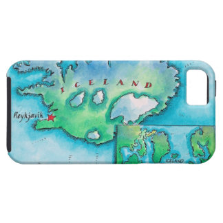 Map of Iceland iPhone 5 Case