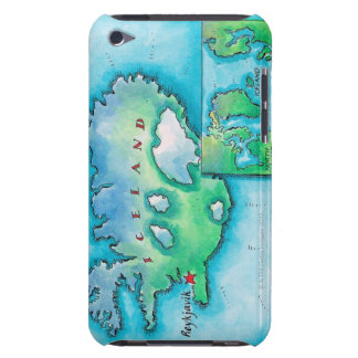 Map of Iceland iPod Case-Mate Cases