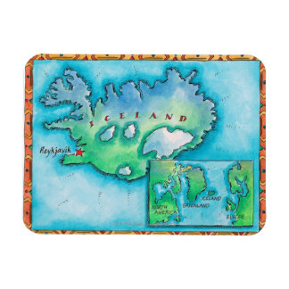 Map of Iceland Magnet