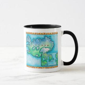 Map of Iceland Mug