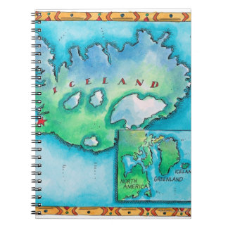 Map of Iceland Notebook