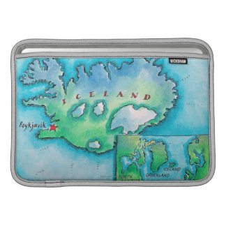 Map of Iceland Sleeve For MacBook Air