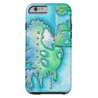 Map of Iceland Tough iPhone 6 Case