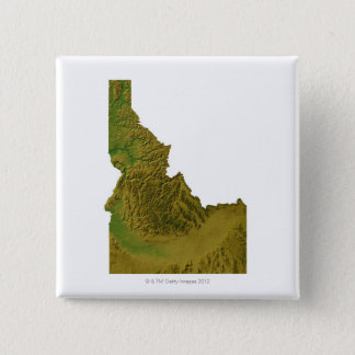 Map of Idaho 2 15 Cm Square Badge
