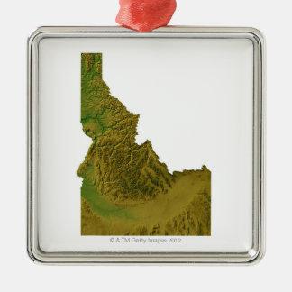 Map of Idaho 2 Christmas Ornament