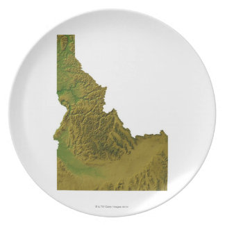 Map of Idaho 2 Plate